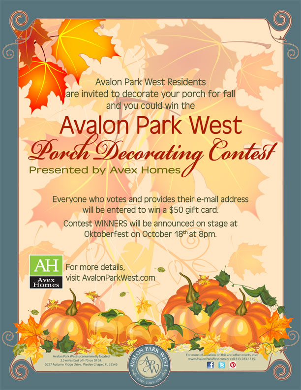Fall Porch Decorating Contest