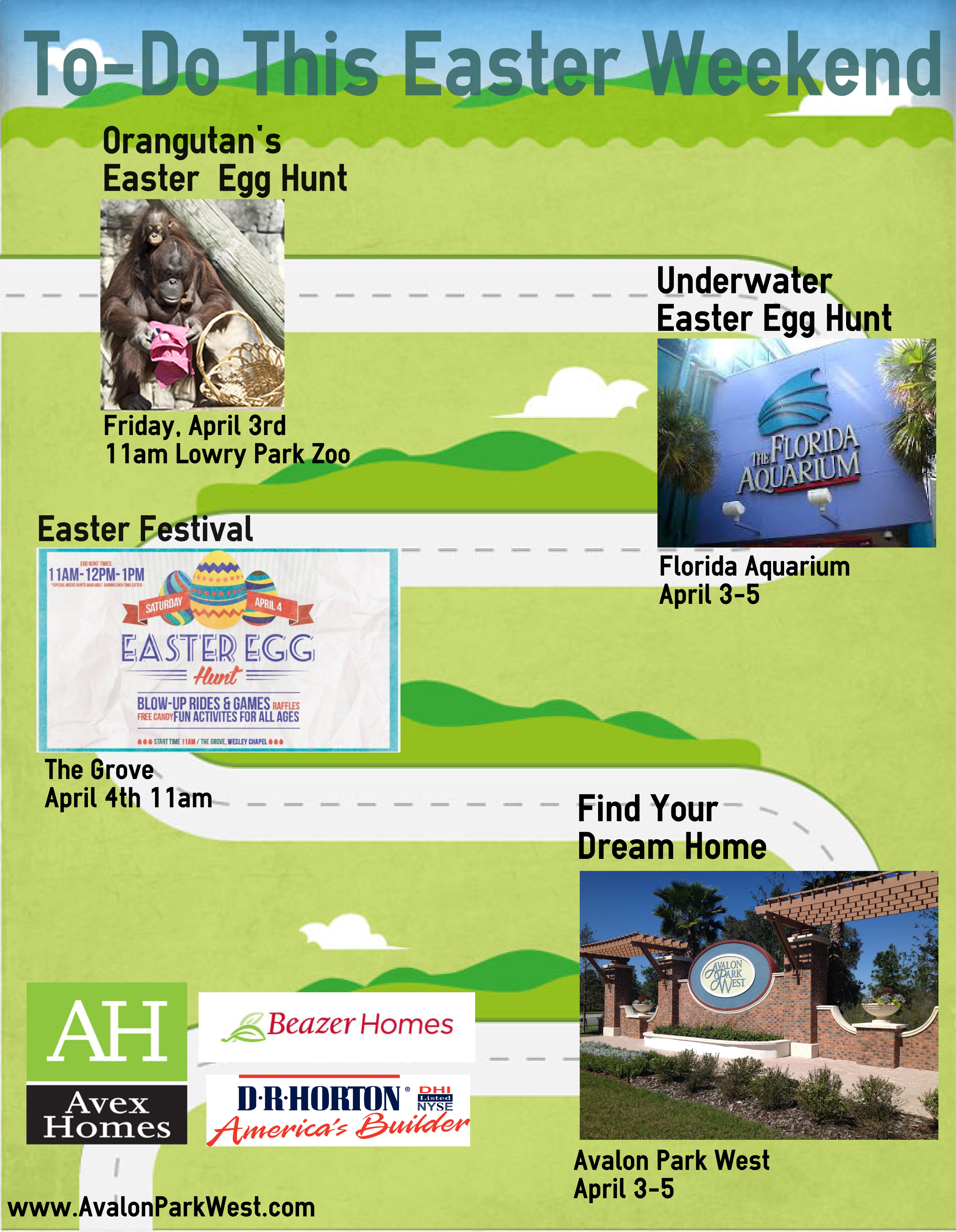 Easter weekend activity flyer