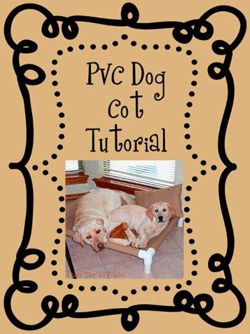 pvc dog cot tutorial