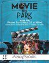 Flyer for September Movie Night at Avalon Park West