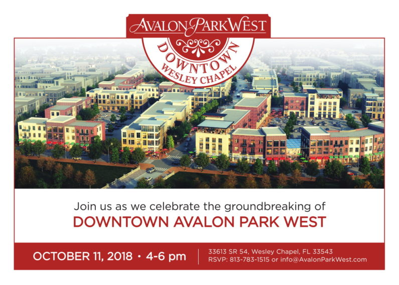 Groundbreaking for Downtown Avalon Park West Wesley Chapel