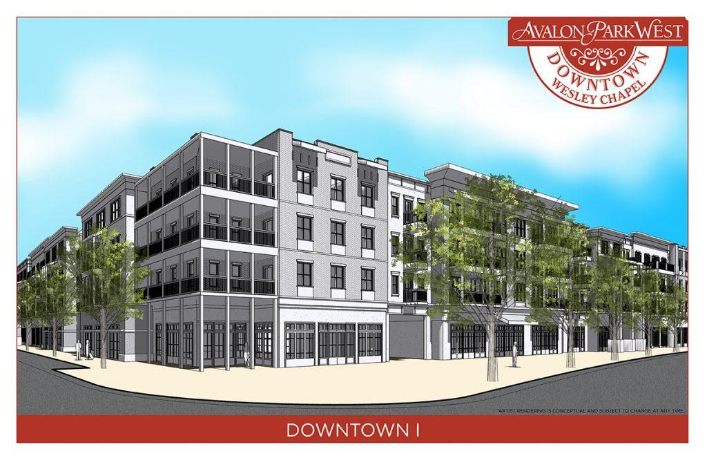 Downtown Avalon Park West conceptual buildings