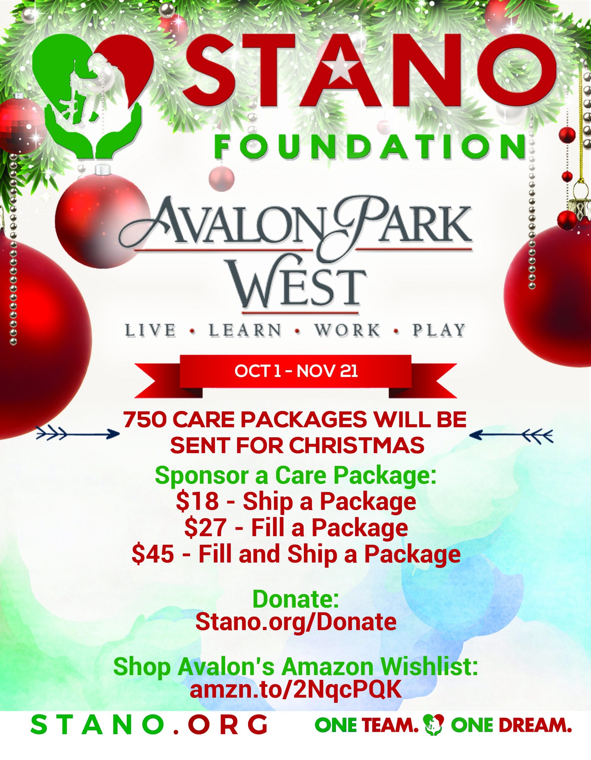 Stano Foundation Donations flyer
