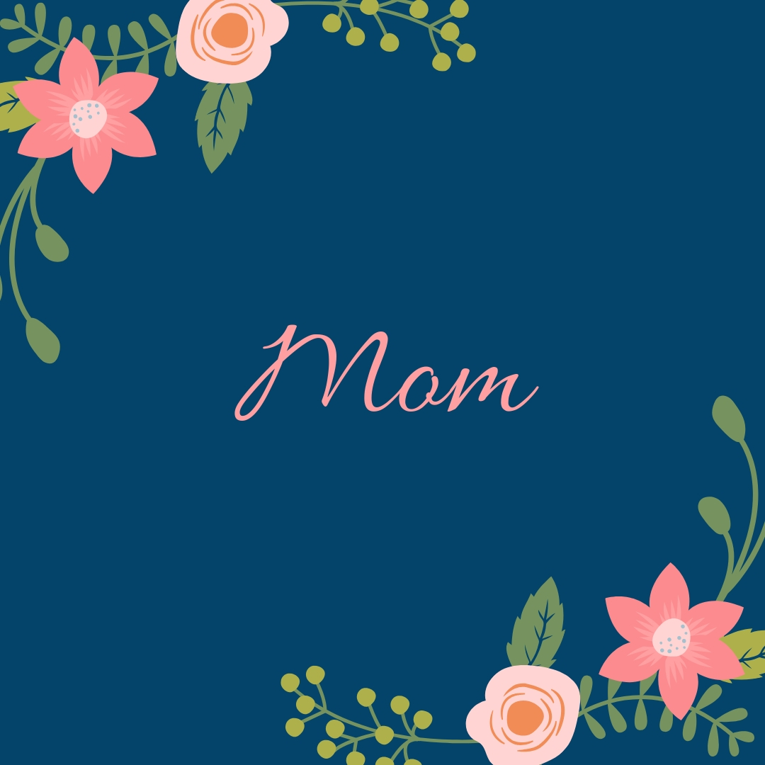 Mom logo with flowers